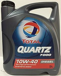 Total TO7D10405 Quartz 7000 D. 10W40 A3/B4 5L, 5 L