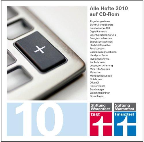 test und Finanztest Archiv 2010 [import allemand]