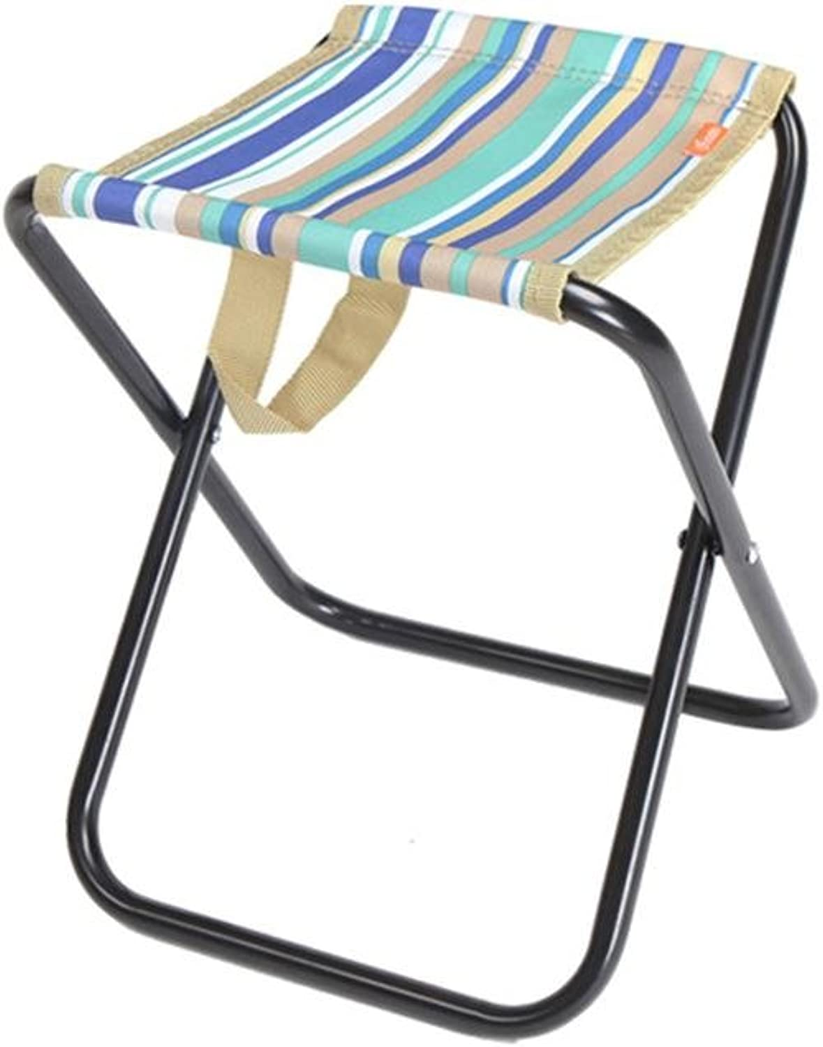 Stools Collapsible, Folding Seat, Ultralight Ergonomics Mini bluee and White Stripes Mazar Fishing Chairs for Camping Painting Hiking Beach Park Portable