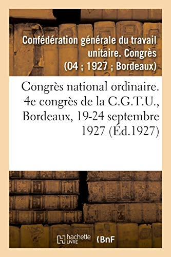 Mirror PDF: Congrès national ordinaire. 4e congrès de la C.G.T.U., Bordeaux, 19-24 septembre 1927: Service vicinal de la Gironde