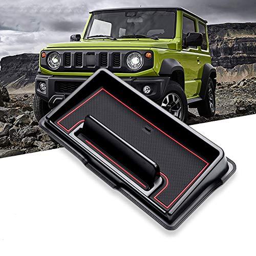 LFOTPP Jimny Sierra JB64 JB74 Auto Instrumententafel Aufbewahrungsbox Veranstalter, Telefon Halter Mittelkonsole Veranstalter (Rot)
