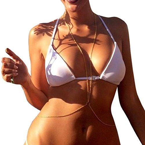 Pixnor Or Belly chaîne Bikini Sexy corps chaîne chaîne de ventre Infinity femmes