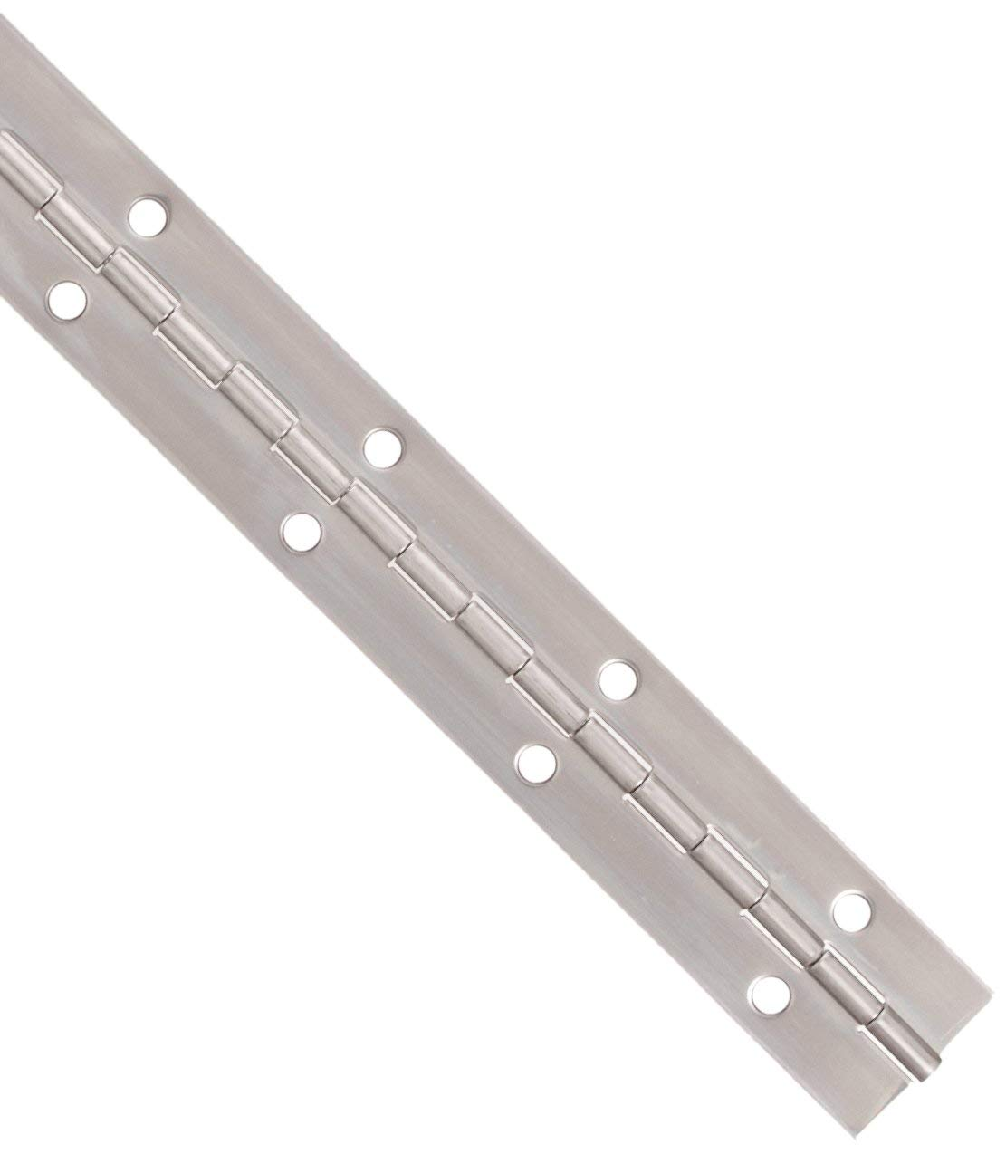 Stainless Steel Continuous Hinge with Fini El Paso Mall Great interest Annealed Hole Bright