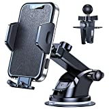 VICSEED [2021 Military-Grade Doesn't Melt & Stuck] Cell Phone Holder for Car Phone Holder Mount Strong Suction Phone Car Holder Dashboard Windshield Car Vent Phone Mount Fit for All Mobile Phones