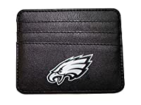 Any Any NFL Philadelphia Eagles Card Case Minimalist Wallet for Men and Women,Thin Sleek Casual Front Pocket Wallet with 3 Credit Card Pockets