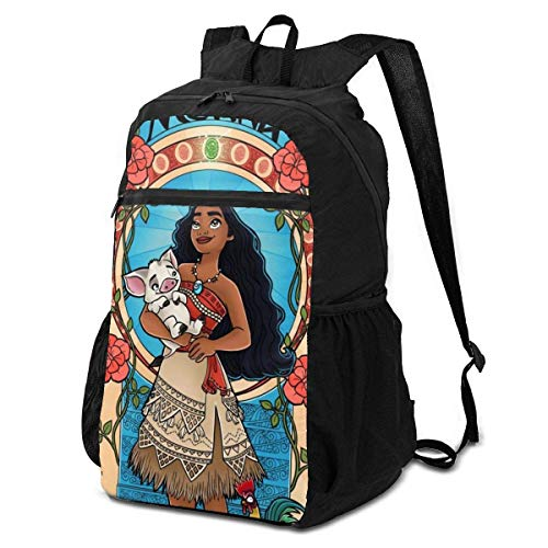 xiameng Anime Moana Art Nouveau Travel Folding Storage Packet 15 Inch Backpack for Boys and Girls,Suitable for Travel Sports