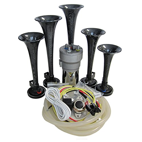 OEMLINK International LTD Dixie Air Horn Carbon Fiber Look - Dixieland Premium Full 12 Note Version with Installation Wire Kit and Button