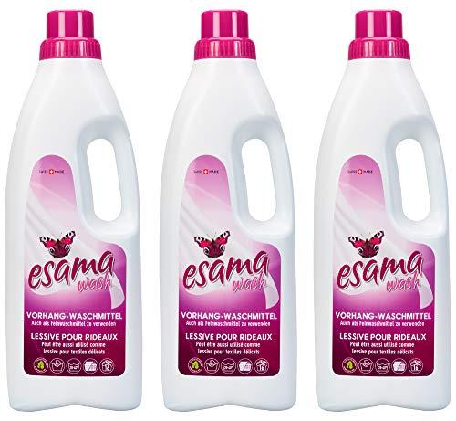 ESAMA 3x1L Vorhang-Waschmittel Feinwaschmittel Für Vorhänge Gardinen-pflege