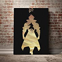 Estarossa Nanatsu nTaizaiポスターキャンバスウォールアートリビング用デコレーションプリントキッドチルドレンルームホームベッドルームデコレーションペインティング/ 60x80cm(フレームなし)