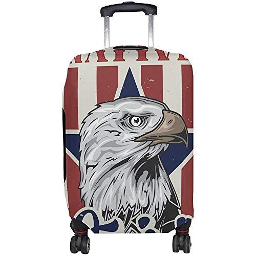 Vintage American Eagle Equipaje Maleta Cubierta Protector para Viajes Talla M