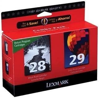 Lexmark 18C1590 #28 #29 X5070 X5075 X5320 X5340 X5410 X5495 Ink Cartridge (Black & Color, 2-Pack) in Retail Packaging