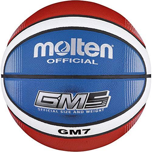 molten Top Training - Balón de Baloncesto (Talla 7), Color Azul, Rojo y Blanco