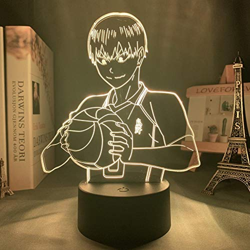 Luz de noche de ilusión óptica 3DAnime7 Interruptor táctil de color Lámpara de escritorio acrílica Novedad Cumpleaños para niños Regalos de vacaciones-16 color remote control