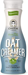 Califia Farms Unsweetened Oatmilk Creamer, 25.4 Oz (Pack of 6) | Whole Rolled Oats | Dairy Free | Gluten-Free | Vegan | Plant Based | Non-GMO