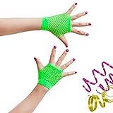Oblique-Uniuqe® Netzhandschuhe in Neon Grün - Einheitsgröße -