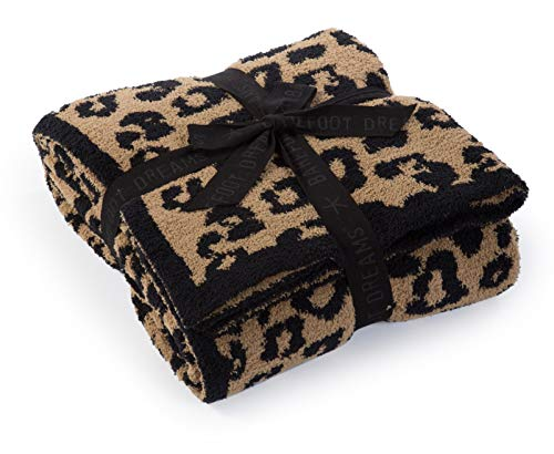 Barefoot Dreams CozyChic Barefoot in The Wild Throw Leopard One Size
