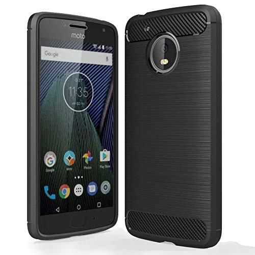 Custodia per Motorola Moto G5Plus | Carbo nfibre Armor Cover Case | Morbido Sottile Slim TPU Silicone | custodia protettiva