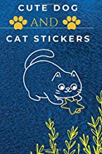 cute dog and cat stickers: This notebook helps your children study in a beautiful atmosphere, it can be used by adults and children, girls.boys