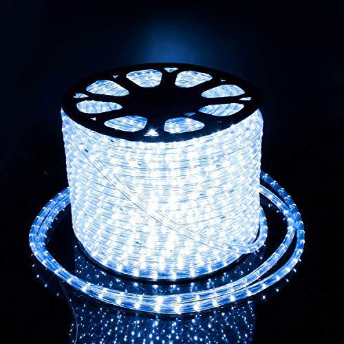 Preisvergleich Produktbild COCOMIA 50 Meter LED Lichterschlauch Außen,  Wasserfest LED Schlauch für Auße,  Dekoration und Beleuchtung LED Lichterschlauch für Halloween,  Garten,  Weihnachten,  Hochzeit,  Party,  Kaltweiß