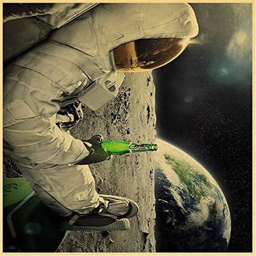 Yingxin34 Rompecabezas para Adultos 2000 Piezas Astronauta sosteniendo una Botella de Vino Rompecabezas de Piso para niños Adultos 70x100cm