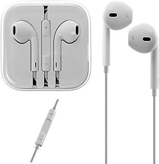 Apple iPhone イヤホン マイク Earpodsタイプ バルク品 わけあり品 純正同等コントロール可 3.5mmオーディオプラグ … (白)