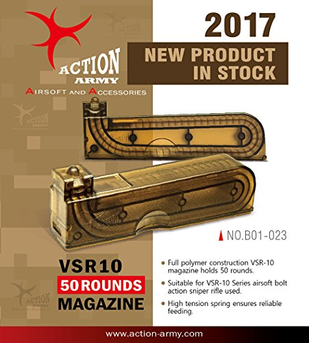 Action Army B01-023 VSR10 50 Rounds Magazine for Tokyo Marui VSR-10 Well MB02 MB03 Airsoft Gun Made in Taiwan