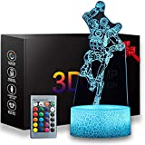 3D APEX Night Light, 16 Colors Changeable with Remote Control Kids Bedroom Decoration Desk Lamp, Creative Lighting Gifts for Kids and APEX Legends Fans