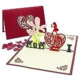 Día de la Madre tarjeta,3D Tarjeta de Felicitación,Tarjeta de cumpleaños para mamá especial, Tarjeta de felicitación pop-up 3D hermoso cortado, regalo para el cumpleaños de mamá, sobre incluido