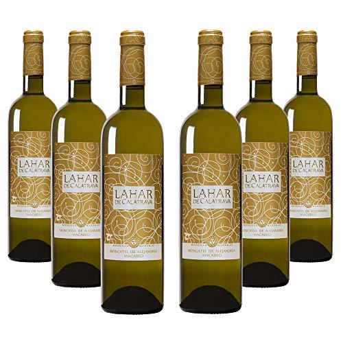 Lahar de Calatrava Moscatel de Alejandría/Macabeo - Vino blanco Campo de Calatrava - Caja de 6 x 750ml