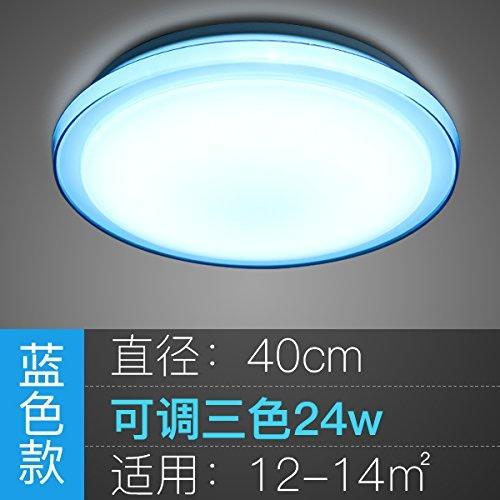 Nouvelle LED lampe de table ronde, salle de séjour, chambre à coucher simple et moderne, de l'étude de la lampe lampe, balcon, allée, lampe, lampe,restaurant bleu Jade 40cm 24W 3 couleurs