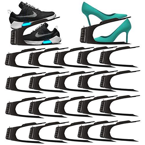 HAC24 20er Set Schuhe Organizer Aufbewahrung Schuhhalter Schuhstapler Schuhorganizer Schuhaufbewahrung Platzsparend Schuhbox Schuhregal