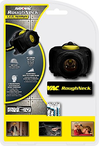 RAYOVAC RoughNeck 80 Lumen 3AA LED Headlight with Batteries, RNHL3AAA-BD