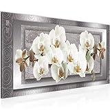 Cuadro Orquídea de flores Decoración de Pared 100 x 40 cm Forro polar - decoración de Pared...