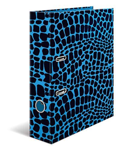 HERMA 19782 Motiv-Ordner DIN A4 Animal Print Snake, 7 cm breit aus stabilem Karton im tierischen Design, Ringordner, Aktenordner, Briefordner, 1 Ordner