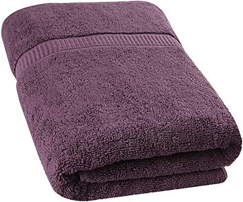 Utopia Towels - Badetuch groß aus Baumwolle, Einzelpackung 600 g/m² - Duschtuch, 90 x 180 cm (Pflaume)