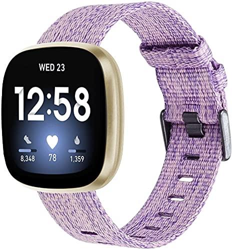Classicase Compatible con Fitbit Versa 3 / Fitbit Sense Correa de Reloj, Pulsera Deportivo de Reloj de Nylon, con Cierre de Clip, Respirable y Reemplazable (Pattern 6)