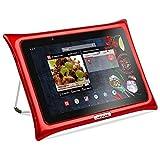 QOOQ - Tablette Ultimate V5 - Tablette Tactile 10 Pouces - Anti-Chocs et Anti Eclaboussures - WiFi, Quadcore, 32 Go de Stockage, 2 Go de RAM, Android 7.0 Nougat - Rouge