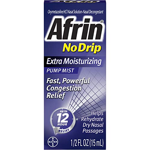 Afrin No Drip 12 Hour Pump Mist, Extra Moisturizing.5-Ounce Pumps (Pack of 3)