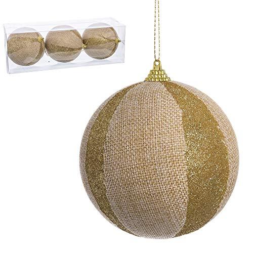 Juguetes Industriales S.A. Set 3 Bolas de Navidad Foam Yute-