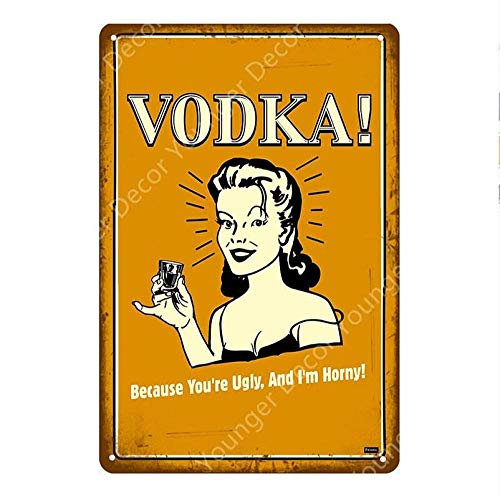 Metalen bord bierdecoratie drankje rum wodka teken van metaal, pub vintage bar grappig wanddecoratie, wijnregels, tinnen platen, kunst poster