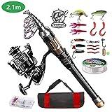ShinePick Fishing Rod Kit, Telescopic...