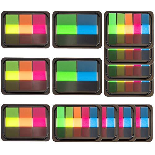 JamBer 1120 Stück Pop-Up Index Tabs Page Marker Sticky Neon Page Flaggen Tabs Polka Dots and Stripes Index Flag Tabs zum Markieren 14 Sets