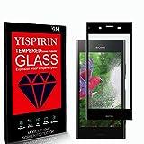YISPIRIN [2 Piezas] Cristal Templado para Sony Xperia XZ1, [Dureza 9H, Anti-Rasguño,3D Cobertura Completa] Fácil de instalar, Vidrio Templado Protector de Pantalla para Sony Xperia XZ1