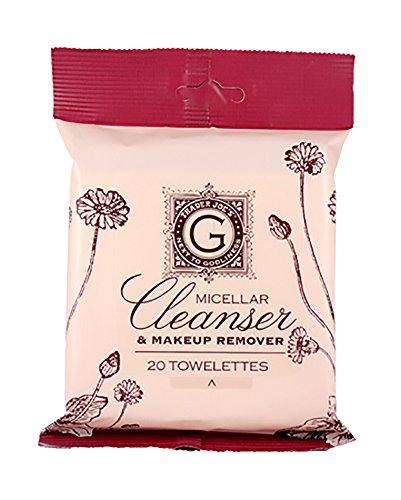 Trader Joe's Micellar Cleanser & Makeup Remover Two Pack each with 20 Towelettes