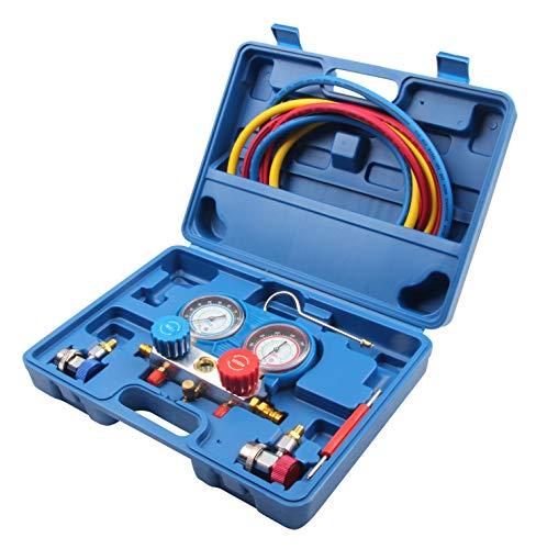 LLCTOOLS Sistema de Control de Aire Acondicionado para Coche de Alta Velocidad, comprobación de Temperatura con Reloj de presión, Grifo de Coche,