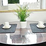 VioLife Tischdecke Tischfolie Tischschutzfolie Transparente PVC Folie Schutzfolie RUND Glasklar 2mm Made in Germany neu im Sortiment (abgeschrägte Kanten, Ø 120 cm) - 4