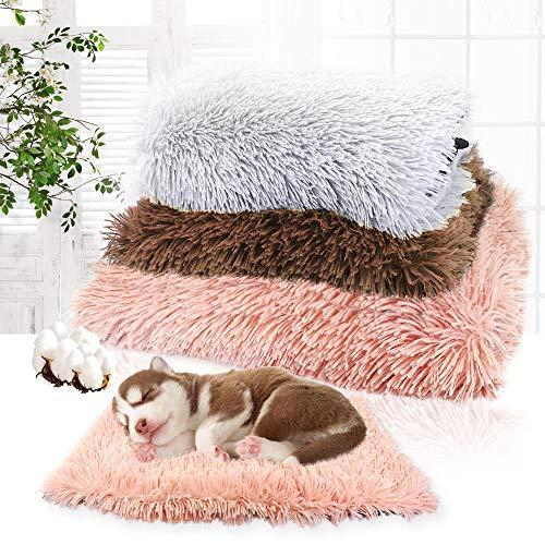 CHE Pet Dog Bed Long Plush Soft Cómodo Fleece Cojín para Mascotas House Puppy Dog Cat Cama para Dormir para Perros Gatos Chihuahua, Rosa, M