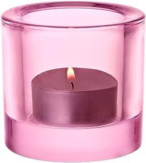 Iittala Kivi Glass Votive Lantern, 1Unit, Glass, Light Pink, 7.2 x 7.2 x 6 cm