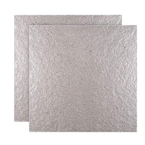 DOITOOL 2 stücke wellenleiter abdeckung für mikrowelle reparatur teil glimmerplatten blätter (5 1 zoll x 5 1 zoll)