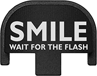 BASTION Laser Engraved Rear Cover Slide Back Plate for Smith & Wesson SD9VE, SD9, SD40VE, SD40. 9mm & .40 Cal - Smile Wait for Flash